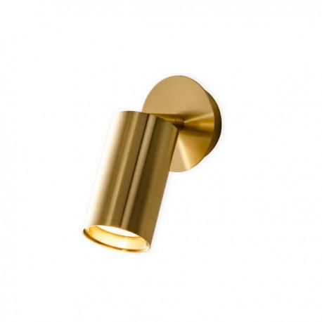 Kinkiet złoty z mosiądzu do oświetlenia punktowego