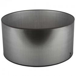 Srebrny abażur lampa stolowa Modern Classic Ø 36 błyszczaca tafta