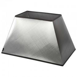 Abażur kinkietowy modern classic srebrna tafta 20