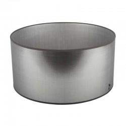 Srebrny abażur lampa stolowa Modern Classic  Ø 28 błyszczaca tafta