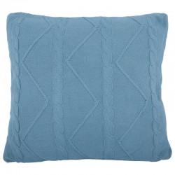 Elegancka poduszka w modnym niebieskim kolorze Hamptons
