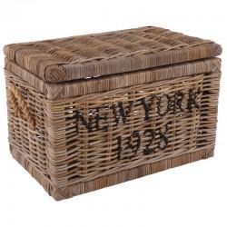 Rattanowa skrzynia na drewno lub ubrania New York Hamptons