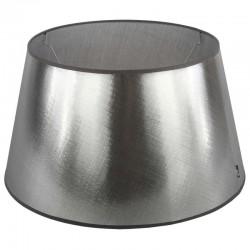 Srebrny abażur Ø 40 błyszcząca tafta lampa podłogowa