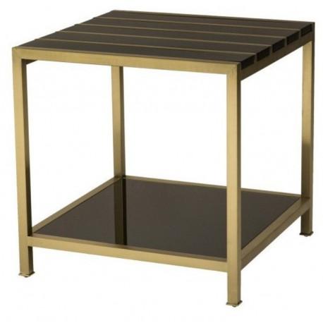 Luksusowy czarno złoty stolik boczny Cosmopolitan Art Deco