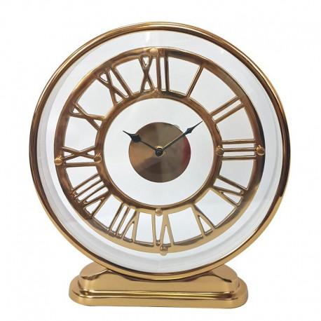 Stojący złoty zegar na komodę parapet 30x6x36