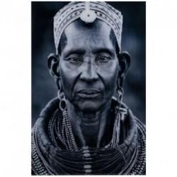 Luksusowy znany obraz-portret Massai-Woman w klimacie Boho-Etno