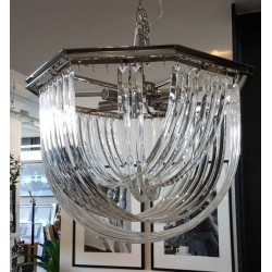 Luksusowy szklany żyrandol do salonu Modern Classic