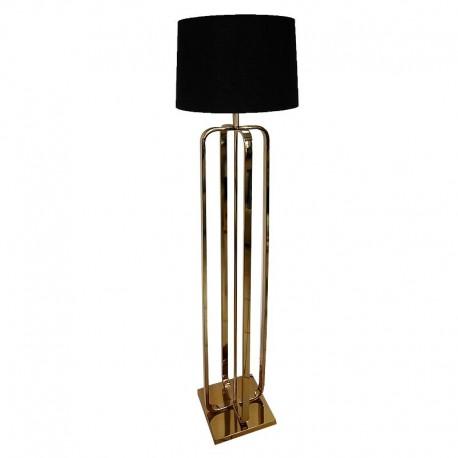 Złota lsuksusowa  lampa podłogowa do salonu New York