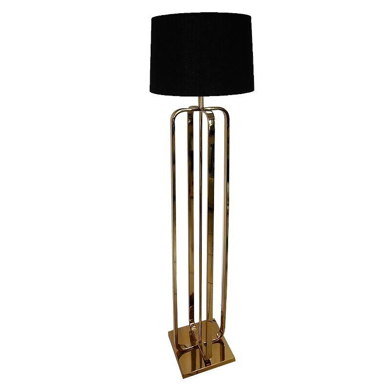 Złota luksusowa  lampa podłogowa do salonu New York