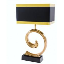 Czarno złota lampa stołowa Art Deco 26x4.5x49
