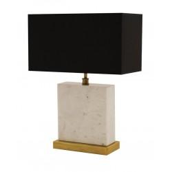 Nowoczesna elegancka lampa stołowa marmur