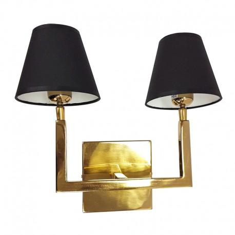 Złoty podwójny kinkiet Modern Classic do salonu