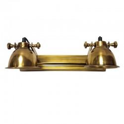Art Deco złoty kinkiet do poświetlania obrazu lustra