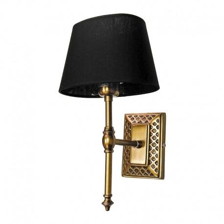 Stylizowany złoty kinkiet do salonu lub łazienki
