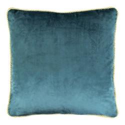 Turkusowa modna welurowa poduszka ozdobna 45x45 poduszki dekoracyjne