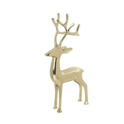 Luksusowa złota figurka jelenia Boże Narodzenie dekoracje