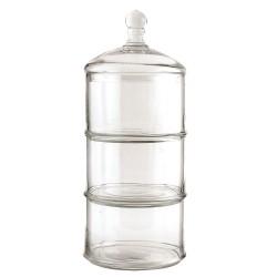 Pojemnik szklany na ciasteczka h41 cm elegancki dodatki do kuchni