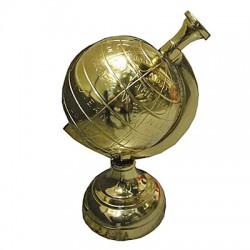 Złoty globus dekoracyjny dekoracje do biura
