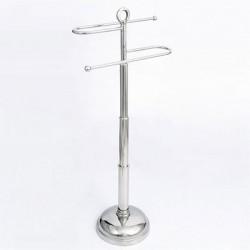 Elegancki stalowy stojak na ręczniki wyposażenie łazienki