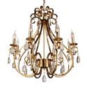 Niklowany złoty żyrandol kryształowe żyrandole