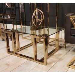 Luksusowy stolik kawowy złoty stoliki kawowe nowoczesne
