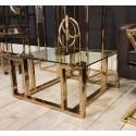 Luksusowy stolik kawowy złoty 80x80x40 stoliki kawowe nowoczesne