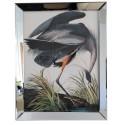 Modny obraz w lustrzanej ramie 70x90 do salonu sypialni egzotyczny ptak