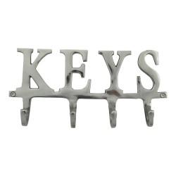Srebrny wieszak na ścianę na klucze lub płaszcze
