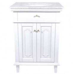Luksusowa szafka z umywalką blat marmurowy