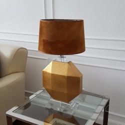 Luksusowa nowoczesna  złota lampa stołowa Art Deco