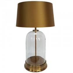Luksusowa lampa stołowa szklana złota Ø23x41
