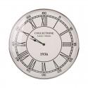 Luksusowy duży zegar Ø 62 niklowany do wnętrz Modern Classic