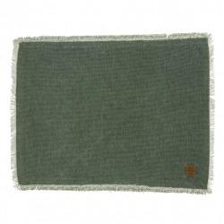 Modna zielona podkładka pod talerze 33x45 w stylu Hampton