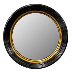 Wypukłe lustro w drewnianej ramie Ø 51 cm