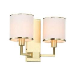 Art Deco lampa złota wisząca z abażurem 353X300X1130