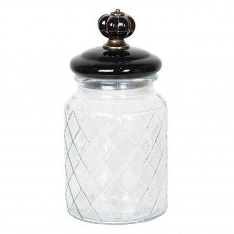 Pojemnik szklany kuchenny w stylu Art Deco
