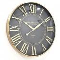 Duży złoty zegar 60cm do salonu jadalni na korytarz w klimacie Art Deco