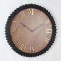 Elegancki drewniany zegar 51 z drewnem do salonu lub jadalni