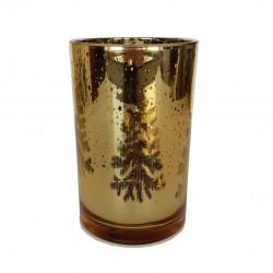 Złoty lustrzany lampion h18 cm dekoracja Boże Narodzenie