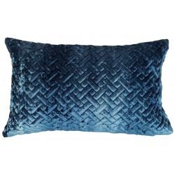 Art Deco luksusowa welurowa35x55 lazurowa pikowana poduszka dekoracyjna