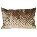 Art Deco luksusowa welurowa35x55 złota poduszka dekoracyjna