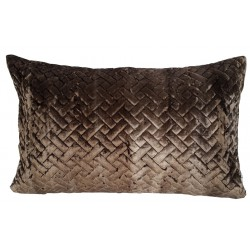 Art Deco luksusowa welurowa35x55 brązowa poduszka dekoracyjna