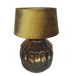 Lampa stołowa Art Deco stare złoto do salonu sypilalni