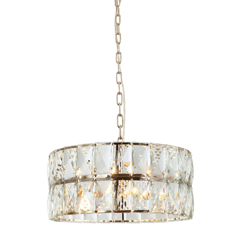 Art Deco Ø55 Glamour kryształowa złota lampa wisząca nad stół do sypialni
