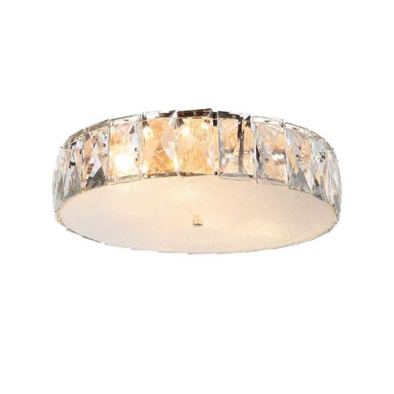 Art Deco Ø55 Glamour kryształowy złoty plafon do sypialni