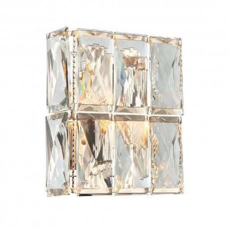 Art Deco Glamour kryształowy kinkiet do salonu na klatkę