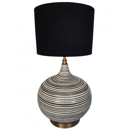 Ceramiczna lampa stołowa Urban Etno Boho Hamptons