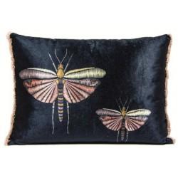 Luksusowa modna welurowa poduszka wyszywane motyle Boho