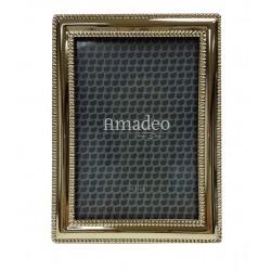 Elegancka złota ramka na zdjęcie 15x11 w stylu glamour