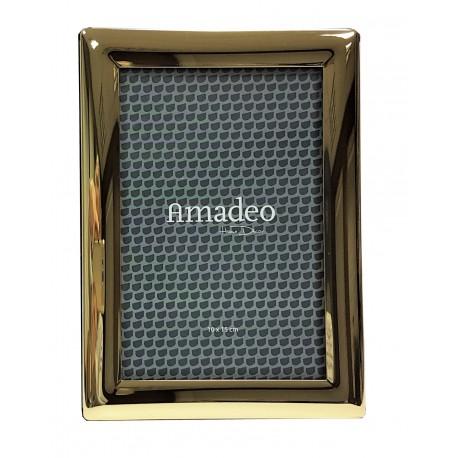 Elegancka złota ramka na zdjęcie 23x18 w stylu glamour